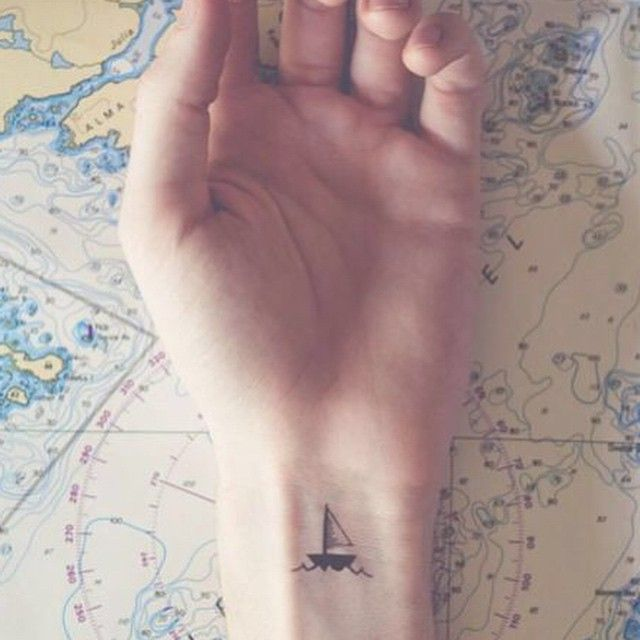Pin for Later: 30 Tiny, Chic Wrist Tattoos That Are Better Than a Bracelet Sail away