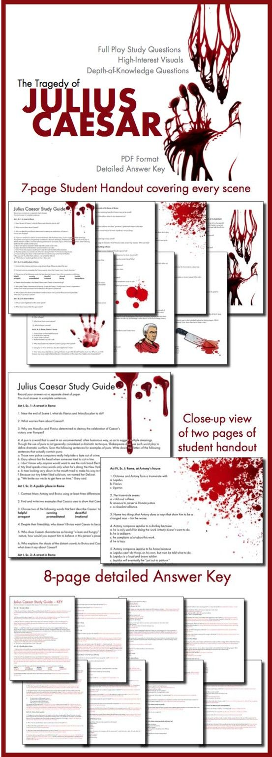 Pull students into their study of Shakespeare's Julius Caesar with these hard-to-ignore handouts.
