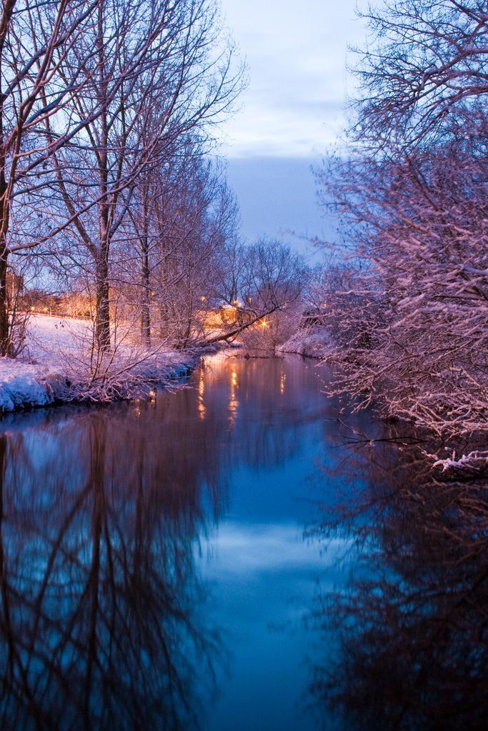 Nantwich in Winter, River Weaver