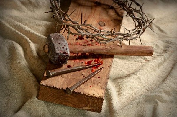 """The gospels of Mark, Matthew, and John report that Yeshua was handed over to the Roman soldiers, who clothed Him in a ragged scarlet cloak, jammed a crown of thorns on His head, and mocked Him saying, """"Hail, King of the Jews!"""""""