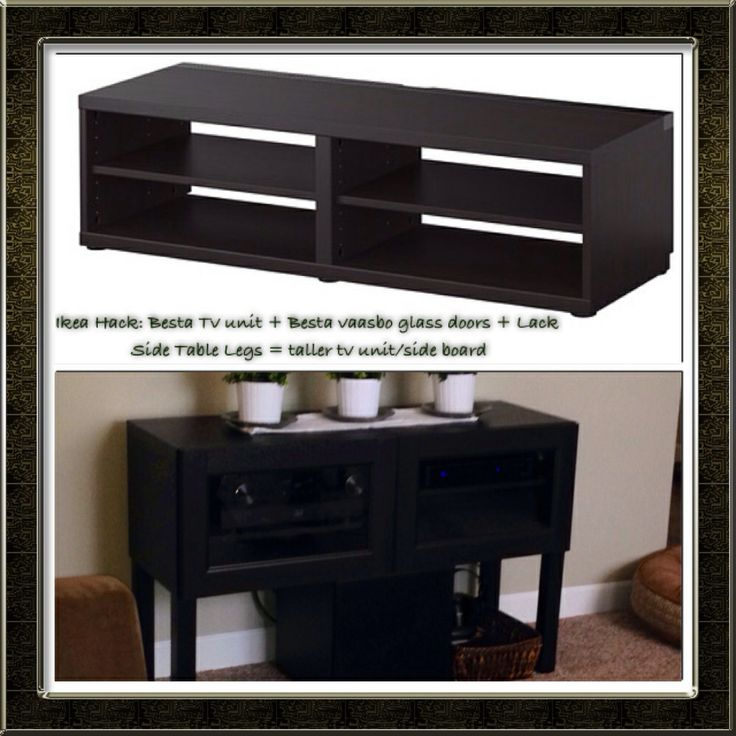 Ikea hack besta tv stand besta vaasbo glass doors for Ikea besta table d appoint
