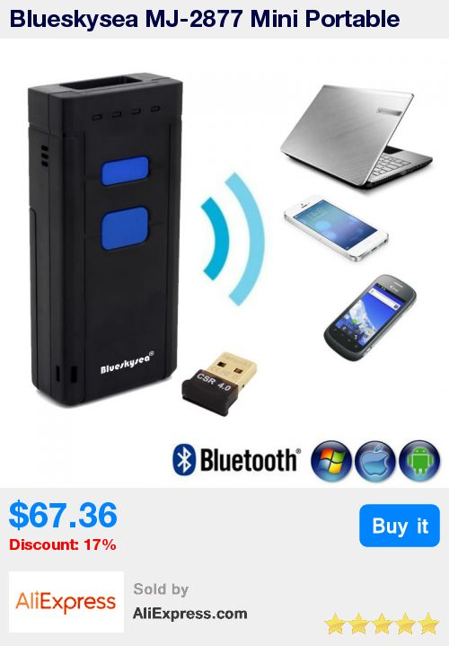 Blueskysea MJ-2877 Mini Portable Bluetooth Wireless 2D Barcode Scanner Scan Mobile Phone Decoding QR Code,PDF417,DataMatrix * Pub Date: 20:42 Aug 14 2017