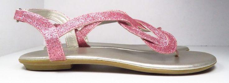 MeToo(Kids) Pink Glitter Sandals Size 4 (Youth)  | eBay