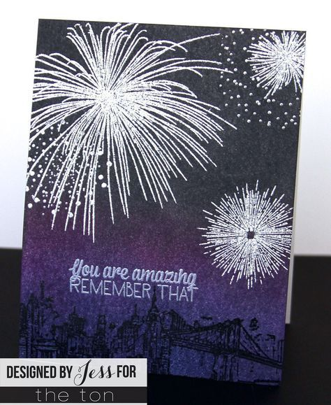 Use our Pyrotechnics set to create some amazing fireworks displays on your paper crafts! 6x8 inches 11 stamps Made of photopolymer Made in the U.S.