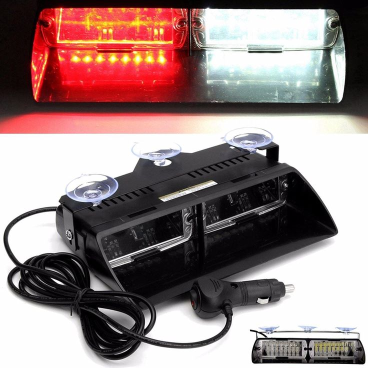 16 LED Flash Light 16W White Red Windshield Warning Emergency Flashing/Strobe Light Lamp Interior Dash - $32.99