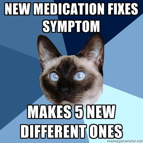 Chronic Illness Cat. Not anxiety cat, but he's going on this board. I know a girl like this