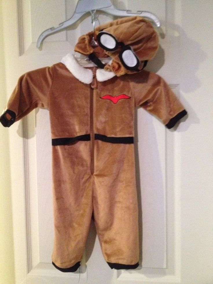 Pilot Costume Dressup Outfit 12 Mos Cloth Helmet Goggles Flying Jumpsuit #FuzzyByDisguise