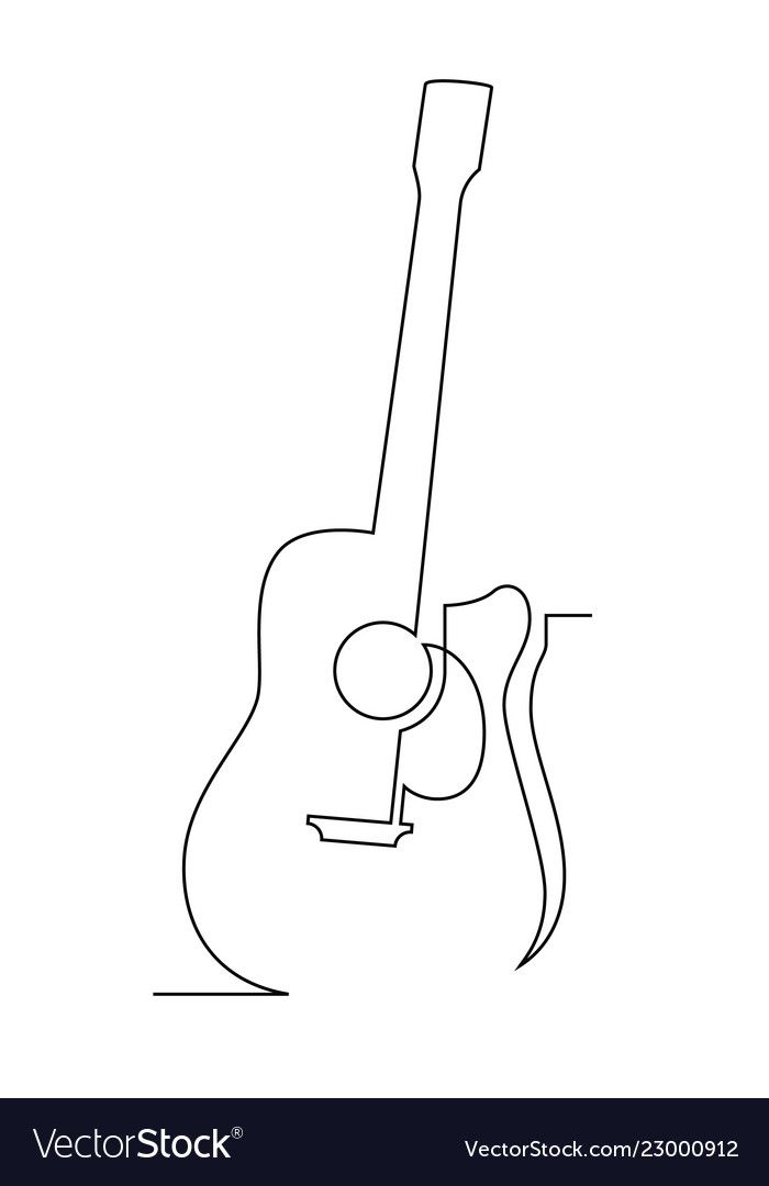 One Line Guitar Royalty Free Vector Image Vectorstock Aff Royalty Guitar Line Free Ad Embroidered Canvas Art Outline Art Abstract Face Art