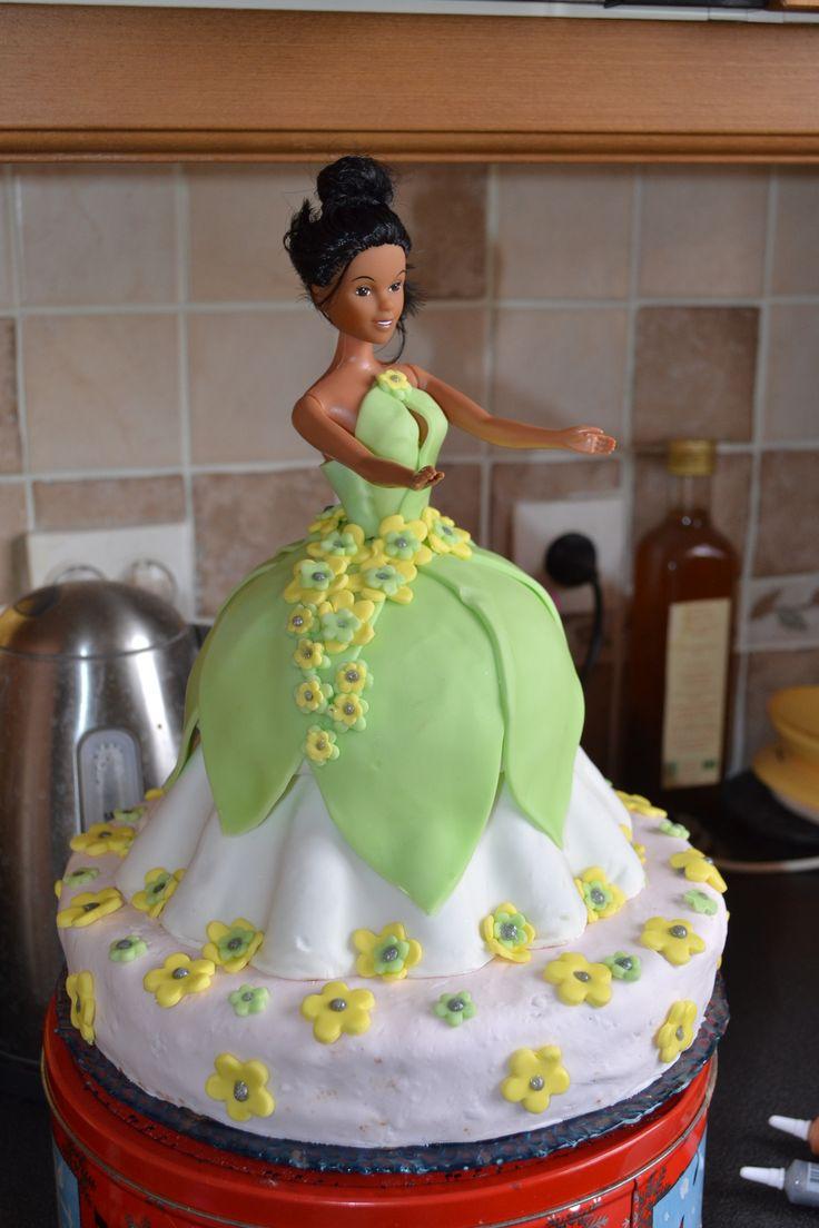 gâteau d'anniversaire princesse grenouille