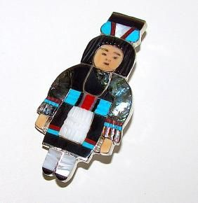 Lot: Native American Zuni Sterling Silver Turquoise Coral, Lot Number: 0365, Starting Bid: $120, Auctioneer: THE SOUTHWESTERN STYLE GALLERY AND AUCTIONS, Auction: SOUTHWESTERN ART NO PREMIUM IN HOUSE SHIP, Date: April 9th, 2017 CDT