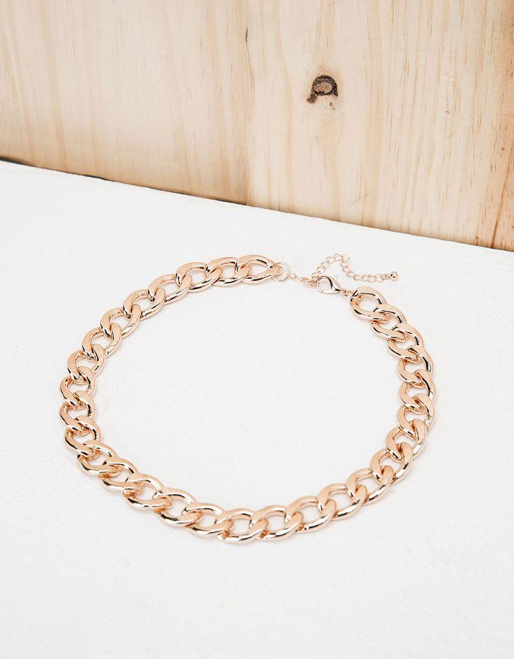 Heavy chain necklace - Accessories - Bershka United Kingdom