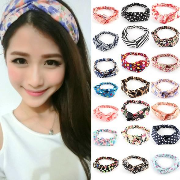 Women Turban Twist Headband Head Wrap Twisted Knotted Knot Hair Band Candy Hot Sale Free Shipping L4 B3
