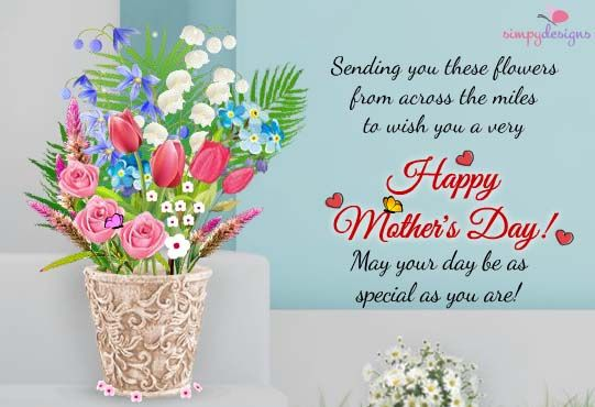 Warm Wishes From Across The Miles! Send these beautiful #flowers to your #Mom on Mother's Day.