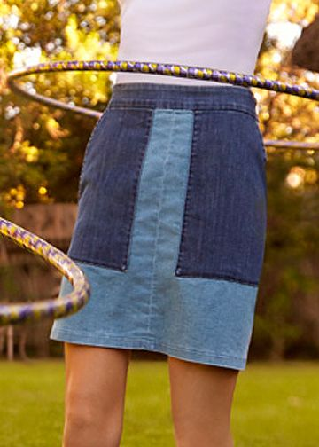 Patch Denim Pam Skirt