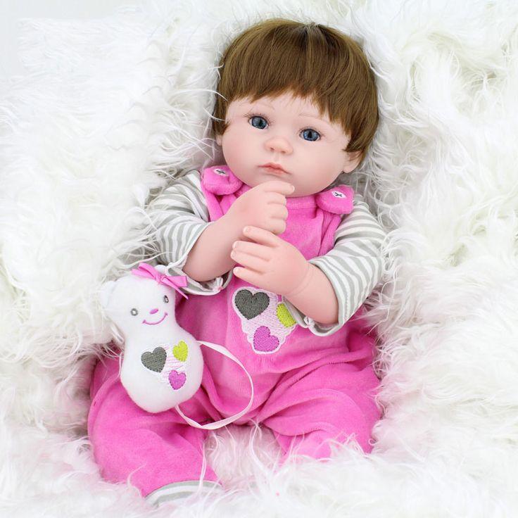 40 см Силиконовые Возрождается Baby Doll дети Playmate Подарок Для Девочек 16 Дюймов Ребенок Жив Мягкие Игрушки Для Букеты Кукла Bebe Reborn #hats, #watches, #belts, #fashion, #style