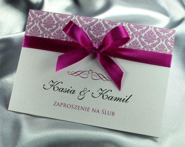 Niezwykłe zaproszenia ślubne w kolorze fuksji (3228577666) - Allegro