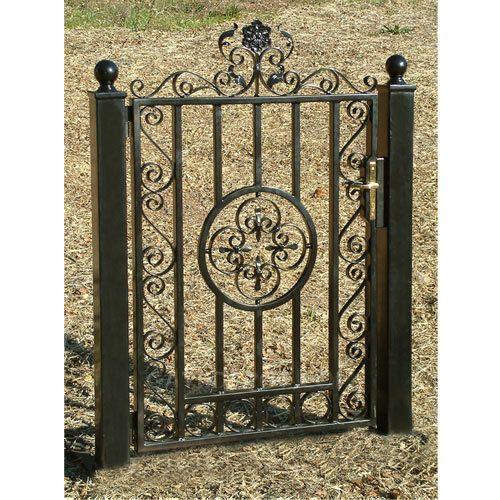 WTS-3000 Garden Gates, Ornamental Iron Garden Gate, Wrought Iron ...