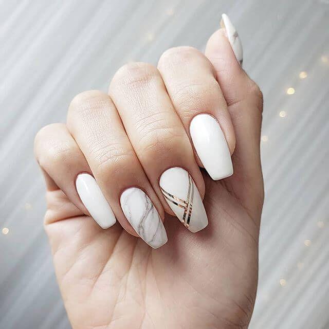 50 Fun And Fashionable White Nail Design Ideas For Any Occasion In 2020 Matte White Nails White Nails White Nail Art