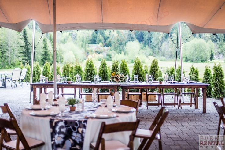 Event Rental Works Wedding install at Executive suites squamish.