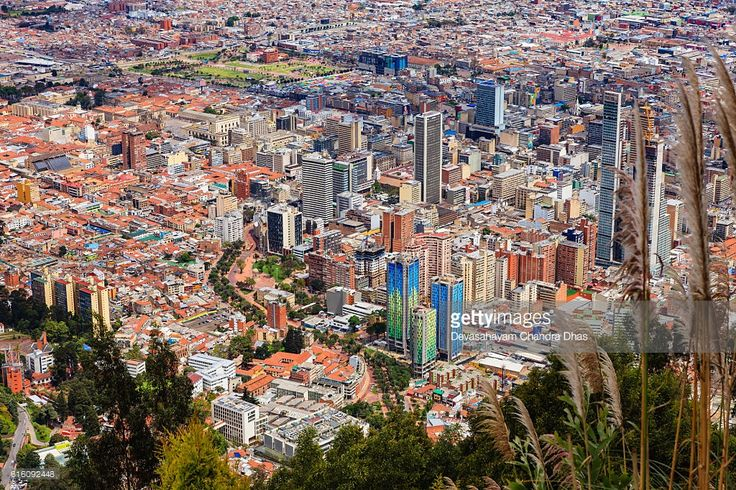 Stock Photo : Bogota, Colombia - view of capital city downtown from Monserrate