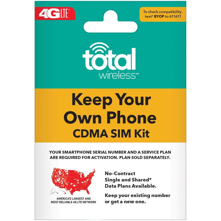 Total wireless keep your own phone 3in1 prepaid sim kit