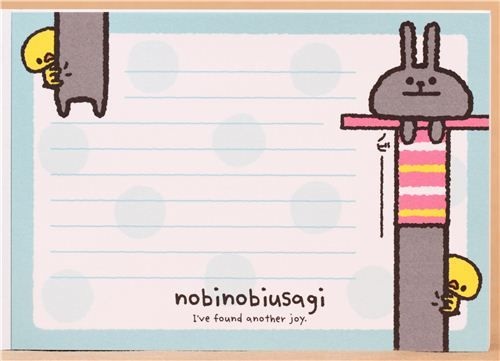 pink rabbit chick memo pad by Kamio 5