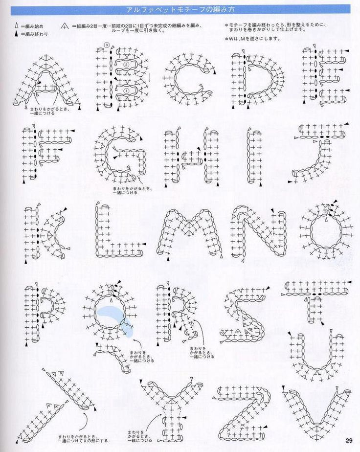 crochet alphabet ✿⊱╮Teresa Restegui http://www.pinterest.com/teretegui/✿⊱╮