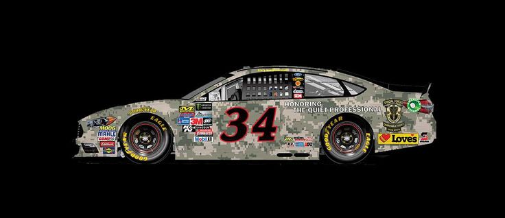 Paint Scheme Preview: Daytona Wednesday, June 28, 2017 Landon Cassill will drive the No. 34 Love's Travel Stops 'Honoring the Quiet Professional' Ford.     Photo: 14 / 30