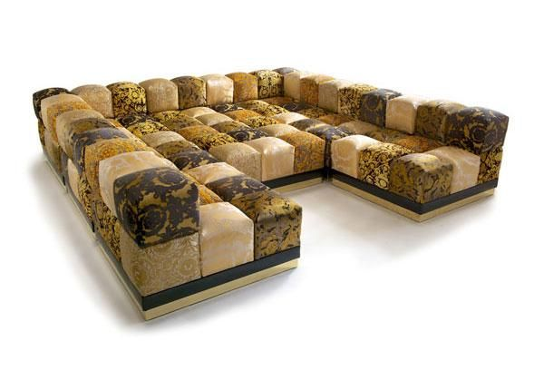 Leather Sofas ORLEANS Versace Home Collection A son us promise to his mother Pinterest Versace Couch sofa and Luxury furniture