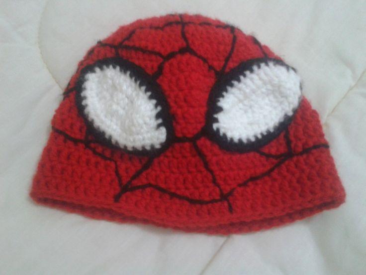 gorro del hombre araña | tejidos a crochet | Pinterest