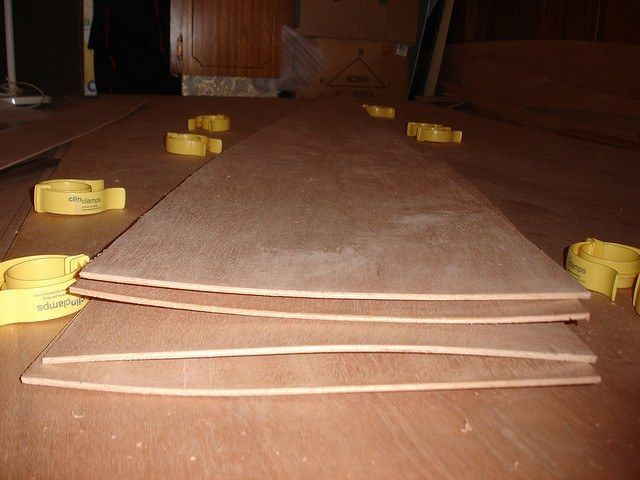 Bent Warped Bowed Wood Sheets Brown Working With