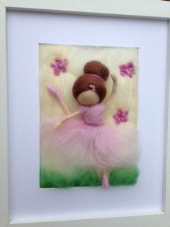 Custom 3D Needle Felted Artwork Ballerina by kniteeney on Etsy, $45.00