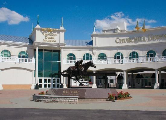 Kentucky Derby Museum entrance, located at Gate 1 of Churchill Downs in Louisville, Ky
