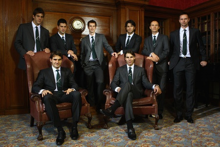 Hahahaha! Ahh, tennis. I don't understand but I love it!!! :) Federer, Nadal, Djokovic, Murray, Del Potro, Verdasco, Davydenko, and Soderling.