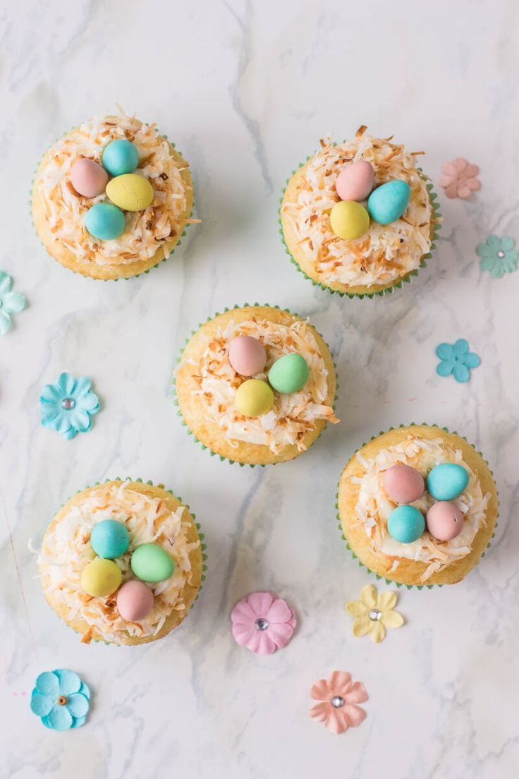 Bird S Nest Cupcakes Recipe Easter Treats Easter Cupcakes