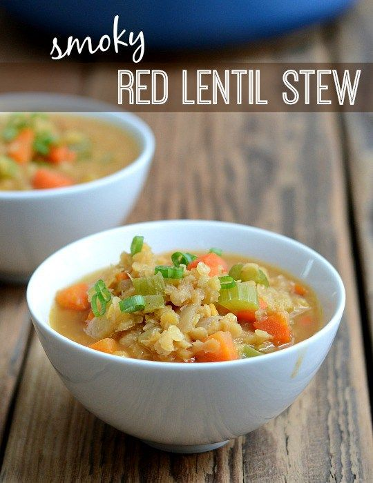 This Smoky Red Lentil Stew is such a delicious vegan dinner recipe! At $.62 a…
