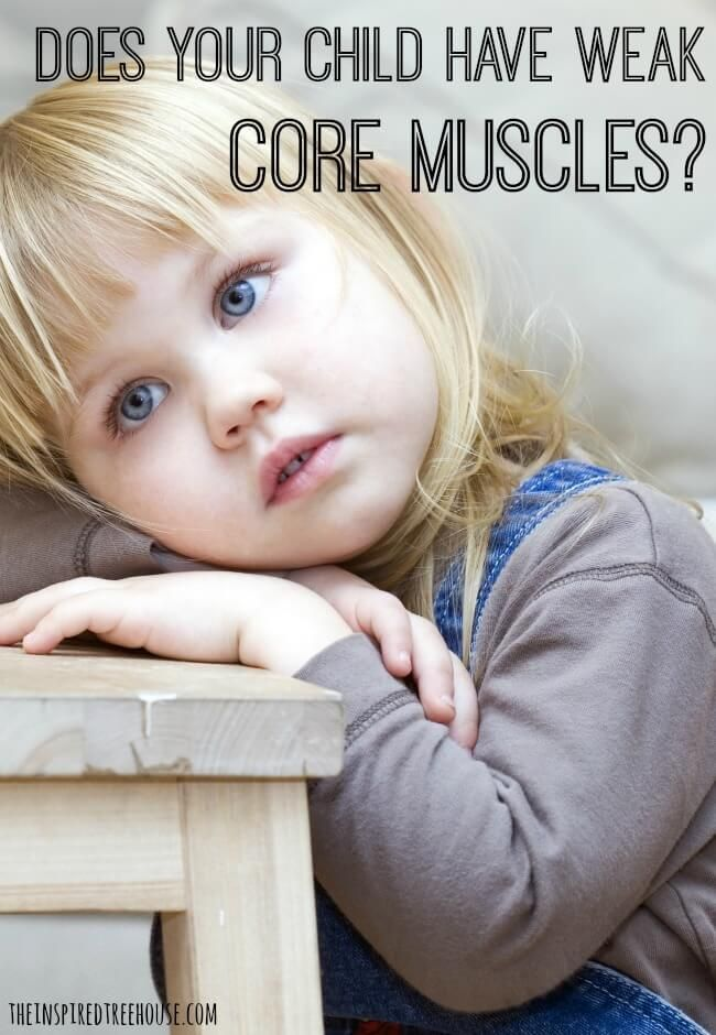 Core strength is the foundation of just about every child development skill imaginable!  Here are some of the tell-tale signs that your child's core may be weak and need some work!