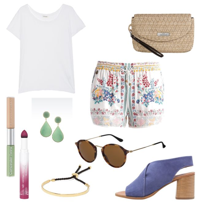 Was trägt man unter Hot Pants? 2017-06-16 - #ootd #outfit #fashion #oneoutfitperday #fashionblogger #fashionbloggerde #frauenoutfit #herbstoutfit - Frauen Outfit Outfit des Tages Sommer Outfit American Vintage Armani Armband Becksöndergaard beige Catrice Emporio Armani Lippenstift Monica Vinader Physicians Formula Ray Ban Riemensandalette Shorts Smash Sonnenbrille Topshop