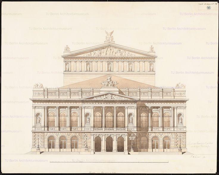 Titel Neues Theater (Oper) in Frankfurt/Main. Vorläufiger Entwurf | Lucae, Richard Neues Theater (Oper) in Frankfurt/Main. Vorläufiger Entwurf | Lucae, Richard