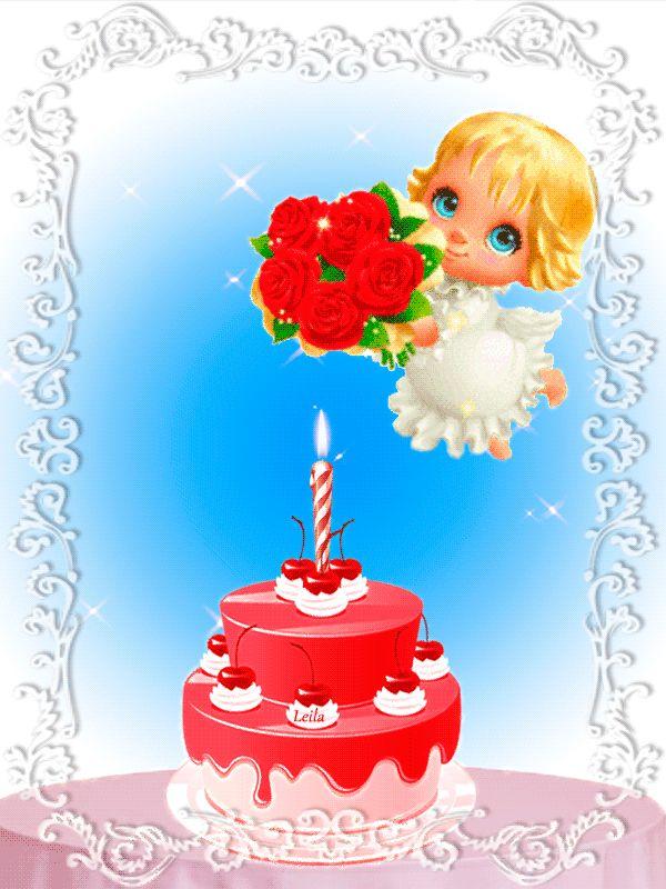 Открытки ангелочки с днем рождения