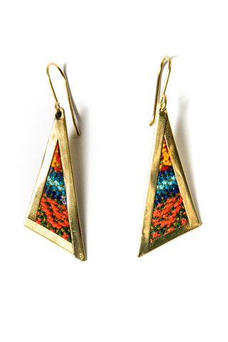 how cute would these repurposed aguayo cloth earrings be with a #LBD or casual weekend outfit?