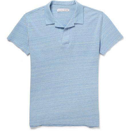 Orlebar Brown Felix Marl Cotton-Piqué Polo Shirt          | MR PORTER