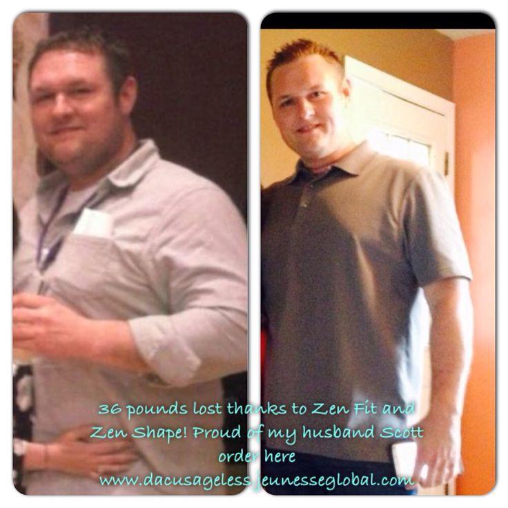This is my husband Scott 40 lbs lighter after 9 weeks using Zen Fit and Zen Shape www.dacusageless.jeunesseglobal.com
