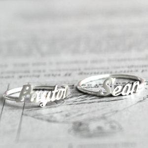 Initial Monogram / Handwriting silver name ring