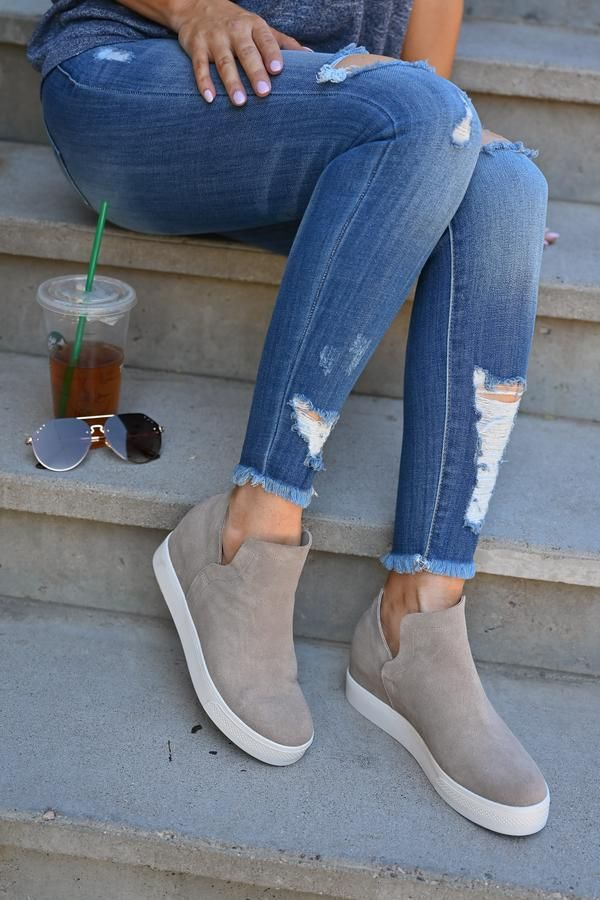 6de5090cd0f STEVE MADDEN Wrangle Wedge Sneakers - Taupe in 2019 | The fit ...