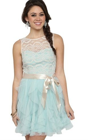 Vintage Illusion Lace Dress with Tendril Skirt and Ribbon Waist