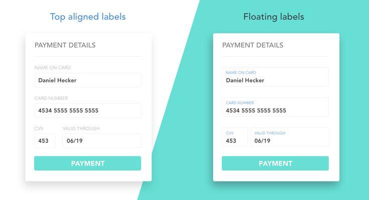 Float label pattern in UX form design – UX Planet
