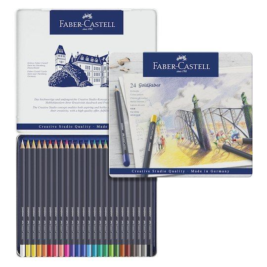 Faber Castell Goldfaber Color Pencils Tin Set 24ct Michaels
