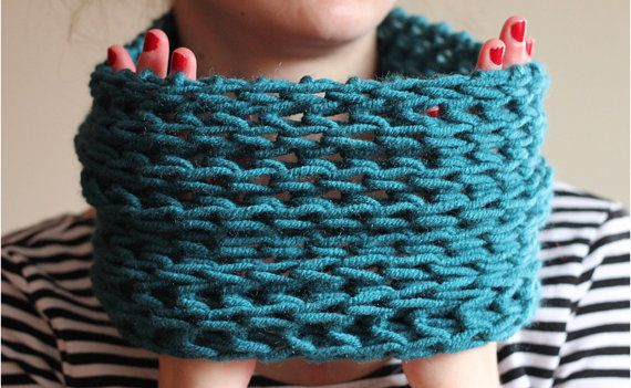 The one with the single blue cowl by winkitywink on Etsy, €20.00
