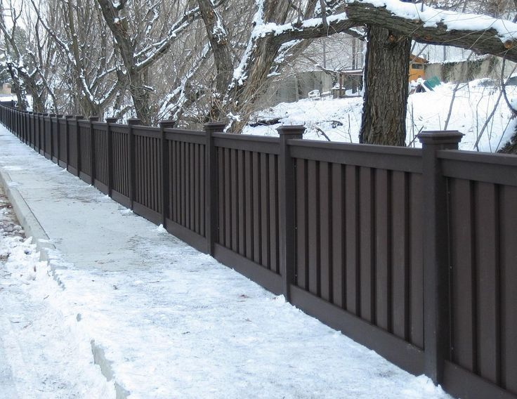 Dark Brown Vinyl Privacy Fence Trex Fencing Trex